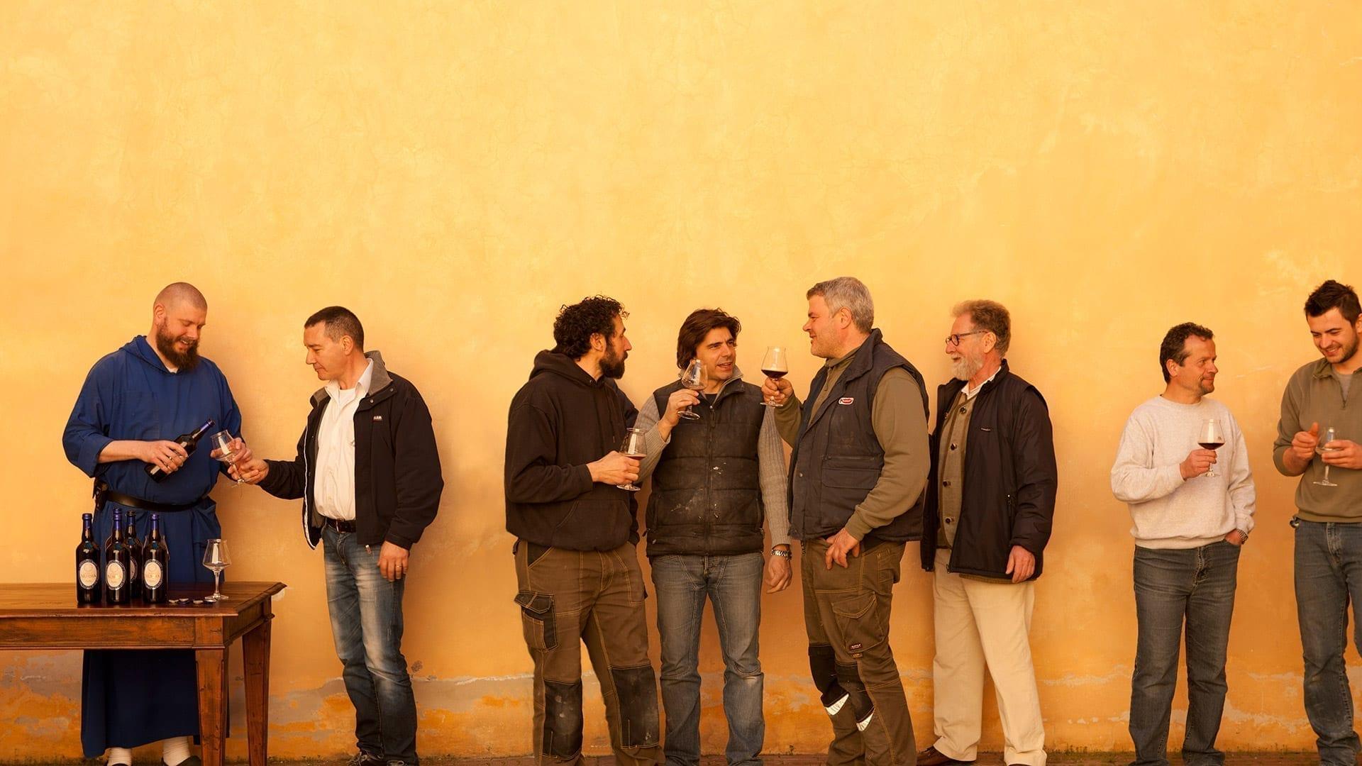 Men enjoying some Birra Nursia